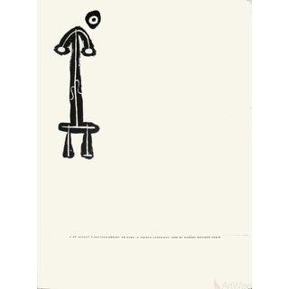 Joan Miro, Derriere Le Miroir, No. 87-88-89, Pg 2, 1956 Lithograph