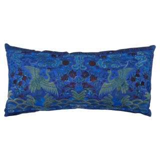 Opulant Silk Embroidered Pillow