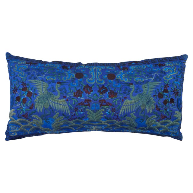 Image of Opulant Silk Embroidered Pillow