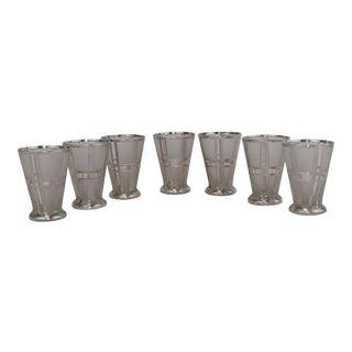 Art Deco Double Shot Whisky Glasses - Set of 7
