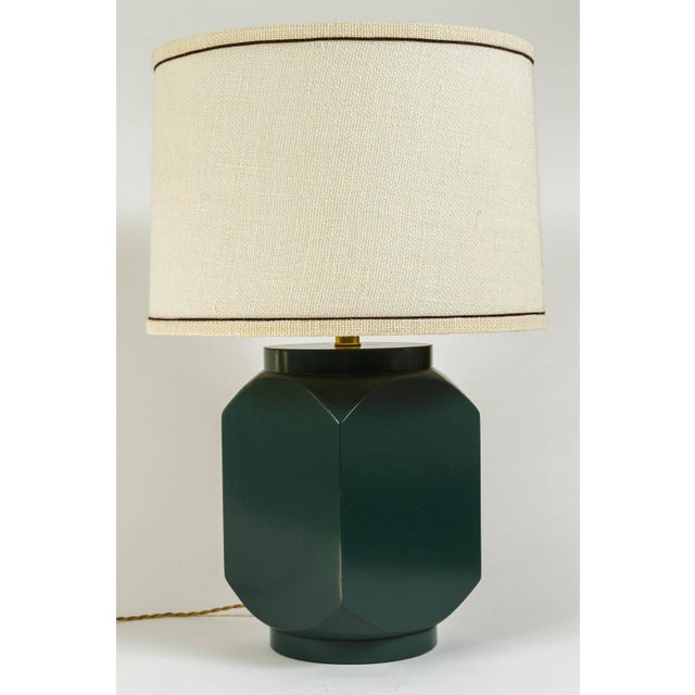 Martin and Brockett Modern Matte Lacquer Lamp - Image 4 of 5