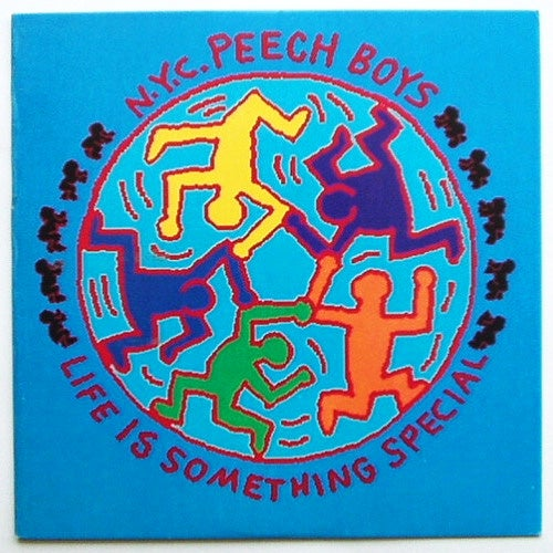 Image of Vintage Keith Haring Vinyl Record Art Cover