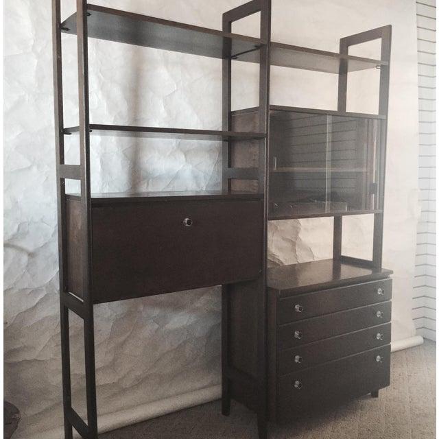 Mid Century Modern Modular Free Standing Wall Unit Chairish