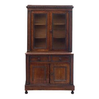 Charming Diminutive 19th Century English Rosewood Step-back Cupboard