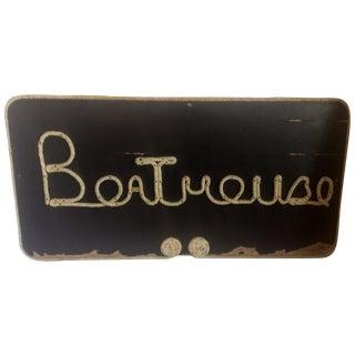 Boathouse Sign