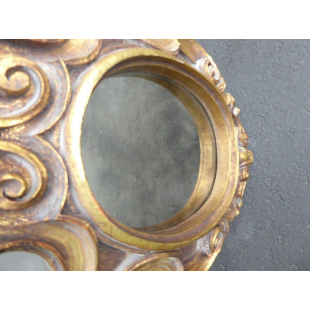 Vintage Syroco Gold Floral Wall Mirror - Image 9 of 11