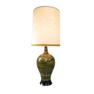 Mid-Century Modern Ceramic Glazed Lamp