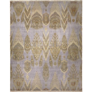 Ornate Hand-Knotted Rug - 9′ × 12′
