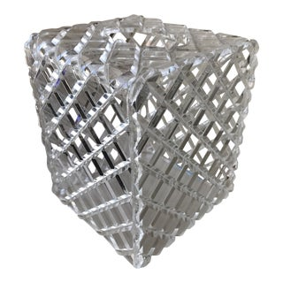 Diamond Cut Lucite Tissue Box Cover