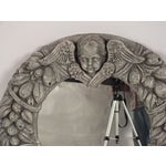 Image of Vintage Round Mirror - Angel & Fruit Decoration