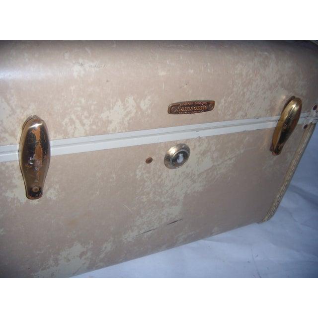 Mid-Century Samsonite Beige Vinyl Cosmetics Case - Image 4 of 7