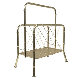 Hollywood Regency Faux Bamboo Magazine Rack