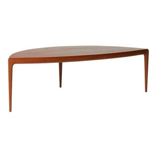 "Johannes Andersen ""D"" Shaped coffee table"