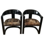 Image of Karl Springer Onassis Chairs - A Pair