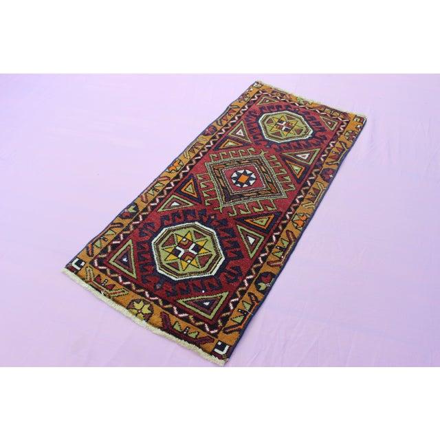 "Turkish Oushak Doormat Rug - 1'9 X 3'9"" - Image 7 of 8"