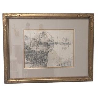 Edgar Alwin Payne Britani Boats Study