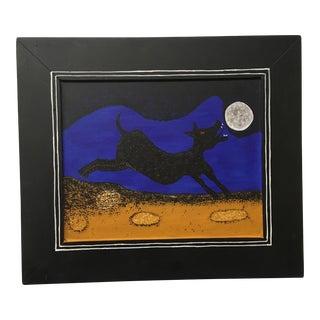 """Rufino Tamayo """"Dog Howling at the Moon"""" Painting"""