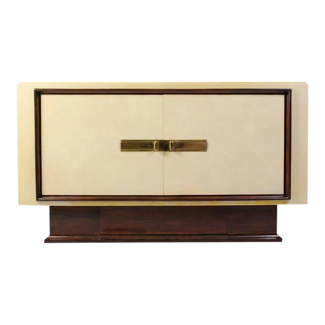 Art-Deco Vellum & Mahogany Sideboard Attributed to Paul Dupré-Lafon - Image 1 of 7