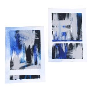 """Syzygy"" No. 1 & No. 2, Original Modern Paintings - Pair"