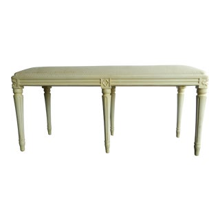 Off-White Louis XVI Bench