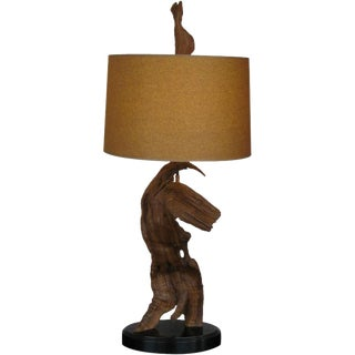 American Mid-Century Organic Driftwood Table Lamp