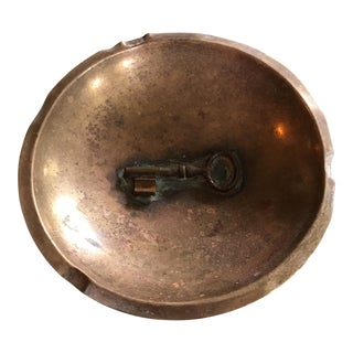 Folk Art Handmade Copper Key Ashtray Catchall