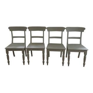 Restoration Hardware White Dining Chairs - Set of 4