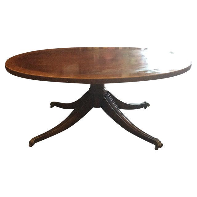 Oval Wood Coffee Table Chairish