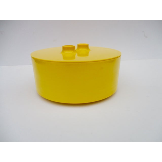 Massimo Vignelli Yellow Melamine Salad Bowl - Image 11 of 11
