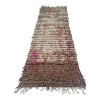 Turkish Angora Wool Runner Rug - 2′5″ × 8′