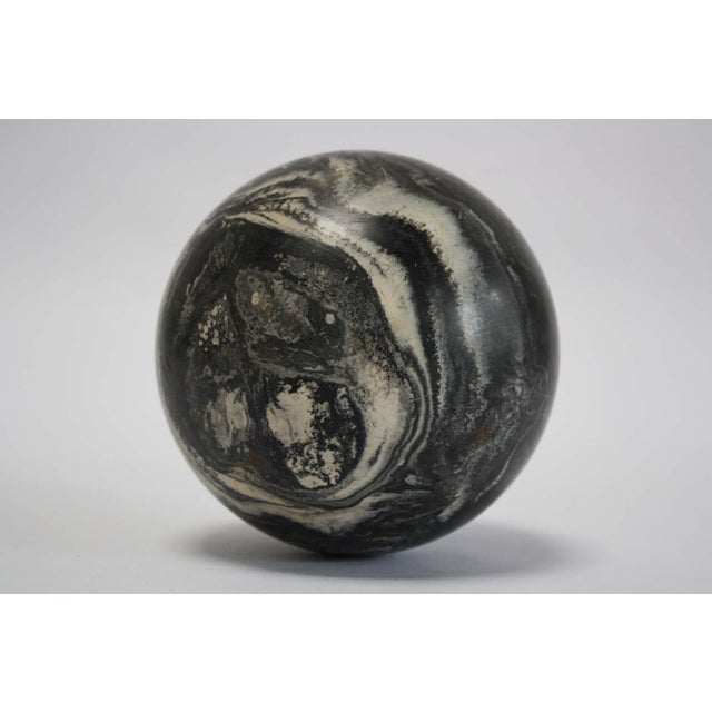 Black Marbleized Bocce Ball - Image 2 of 5
