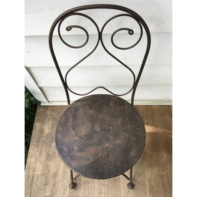 Vintage Iron Folding Chairs - A Pair - Image 4 of 6