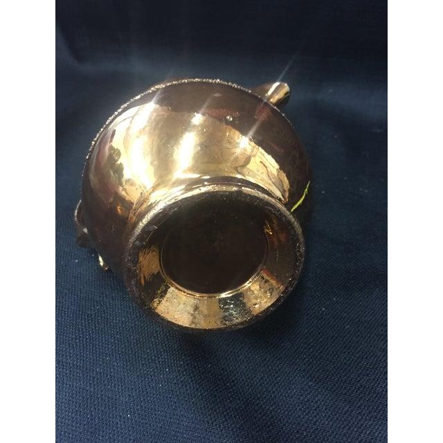 Image of Antique Copper Lusterware Pitcher