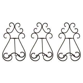 Country Style Easel Plate Stands - Set of 3