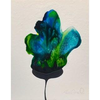 """Botanical Resin Chestnut Bloom"" Original Acrylic Painting"
