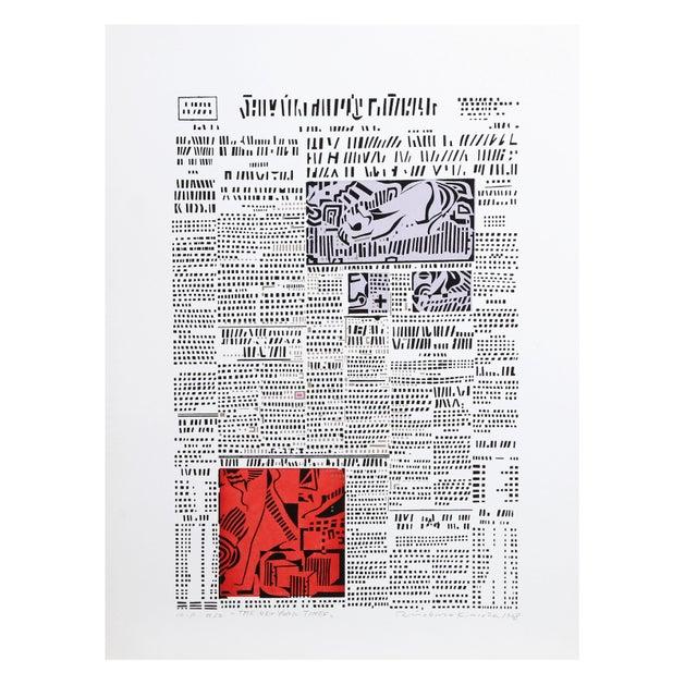 Risaburo Kimura - The New York Times Silkscreen - Image 1 of 2