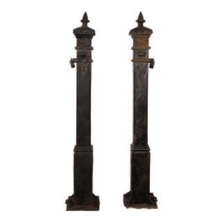Cast Iron Newel Posts - A Pair