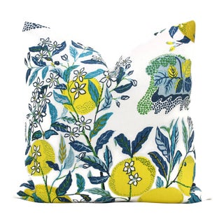 Citrus Garden With Lemon Tree Decorative Pillow Cover Pool, 20x20
