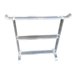 Lucite Blanket & Towel Holder