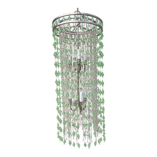 Arteriors Home Green & Clear Raindrop Chandelier