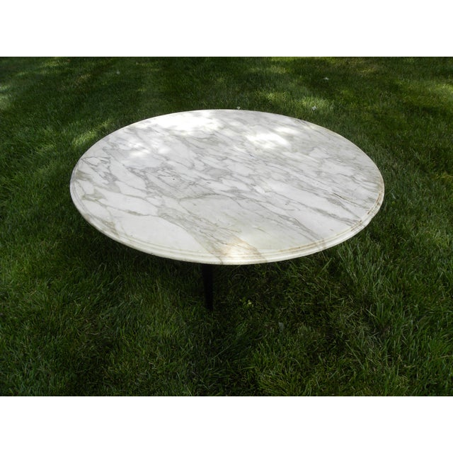 Vintage Mid-Century White Marble Coffee Table - Image 4 of 8
