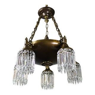 Colonial Revival 5 Light Crystal Chandelier