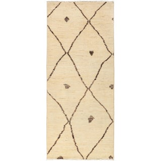 """Moroccan Hand-Knotted Runner - 2'10"""" x 7'1"""""""