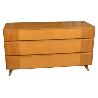 Gorgeous Rway Six Drawer Chest in Blonde Mahogany and Birdseye Maple