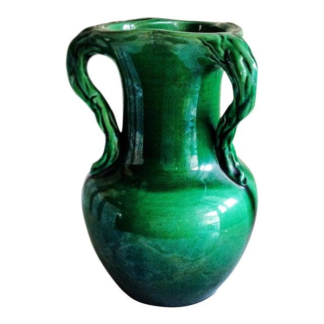 Handmade Mid-Century Emerald Green Vase - Image 1 of 7