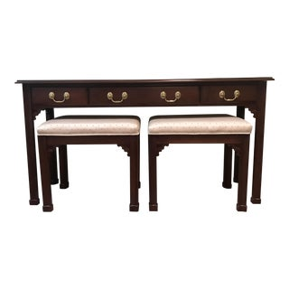 Harden Furniture Sofa Table & Nesting Stools - Set of 3