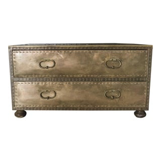 Sarreid Brass Two Drawer Chest or Coffee Table