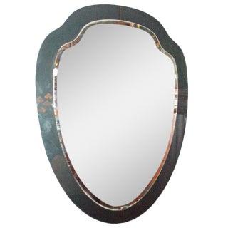 Shield Shaped Wall Mirror in the style of Fontana Arte Italy circa 1960's
