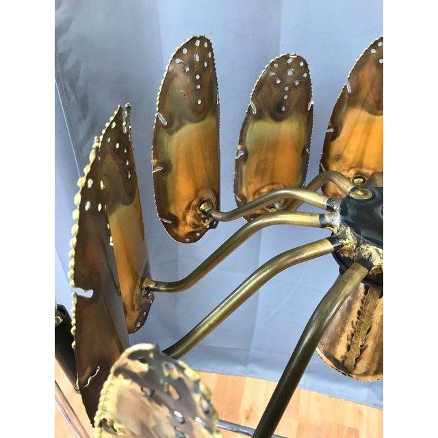 Tom Greene for Feldman Brutalist Brass Chandelier - Image 5 of 9