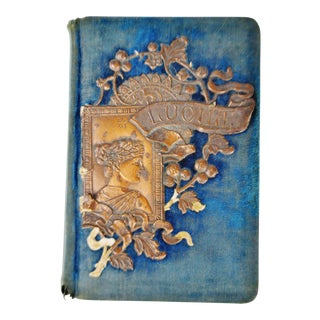 1800's Lucile by Owen Meredith Blue Velvet Hardcover Book